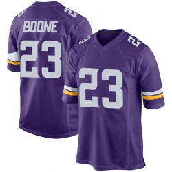 Youth Mike Boone Minnesota Vikings No.23 Game Team Color Jersey - Purple